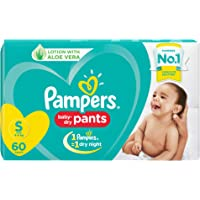 Pampers New Diapers Pants, Small, 60 Count