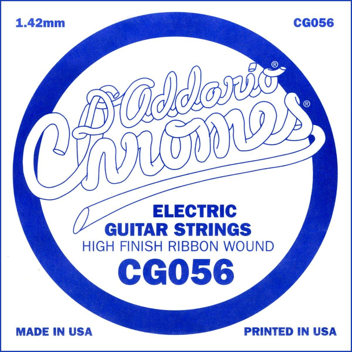 D'Addario CG056, cuerda individual de entorchado plano para guitarra eléctrica.056