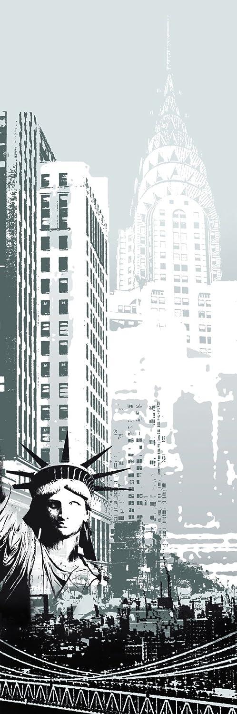 PLAGE 162208 Adesivo per frigorifero -New York, 180 x 59,5 cm