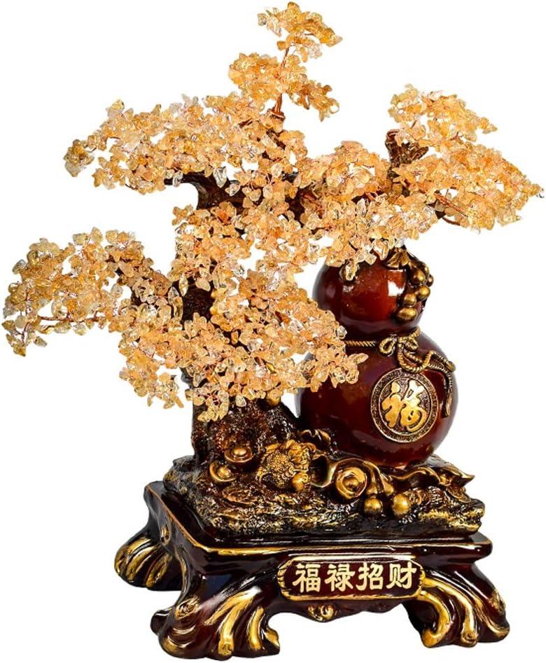 Ornamento de Escritorio Árbol Bonsai Árbol de piedras preciosas curación de cristal del árbol del dinero de Feng Shui de cristal for la meditación espiritual la decoración del hogar Riqueza Curación P