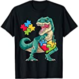 Dinosaur Puzzle Piece T shirt Autism Awareness Boys Kids Men T-Shirt