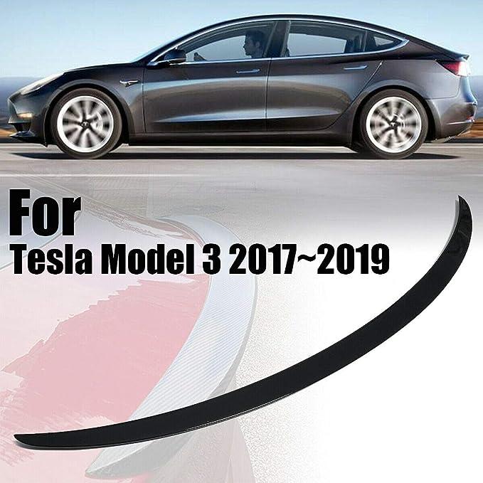 Carbon Fiber Trunk Lip Spoiler Wing Compatible Tesla Model 3 2017-2019 /& Carbon fiber//2