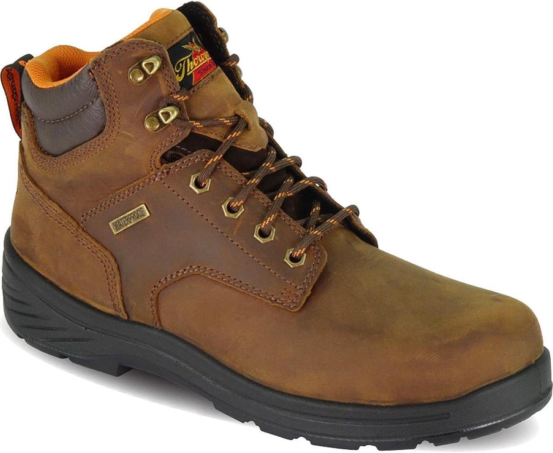 Thorogood Mens 6 Waterproof Plain Toe Leather Sport Boots