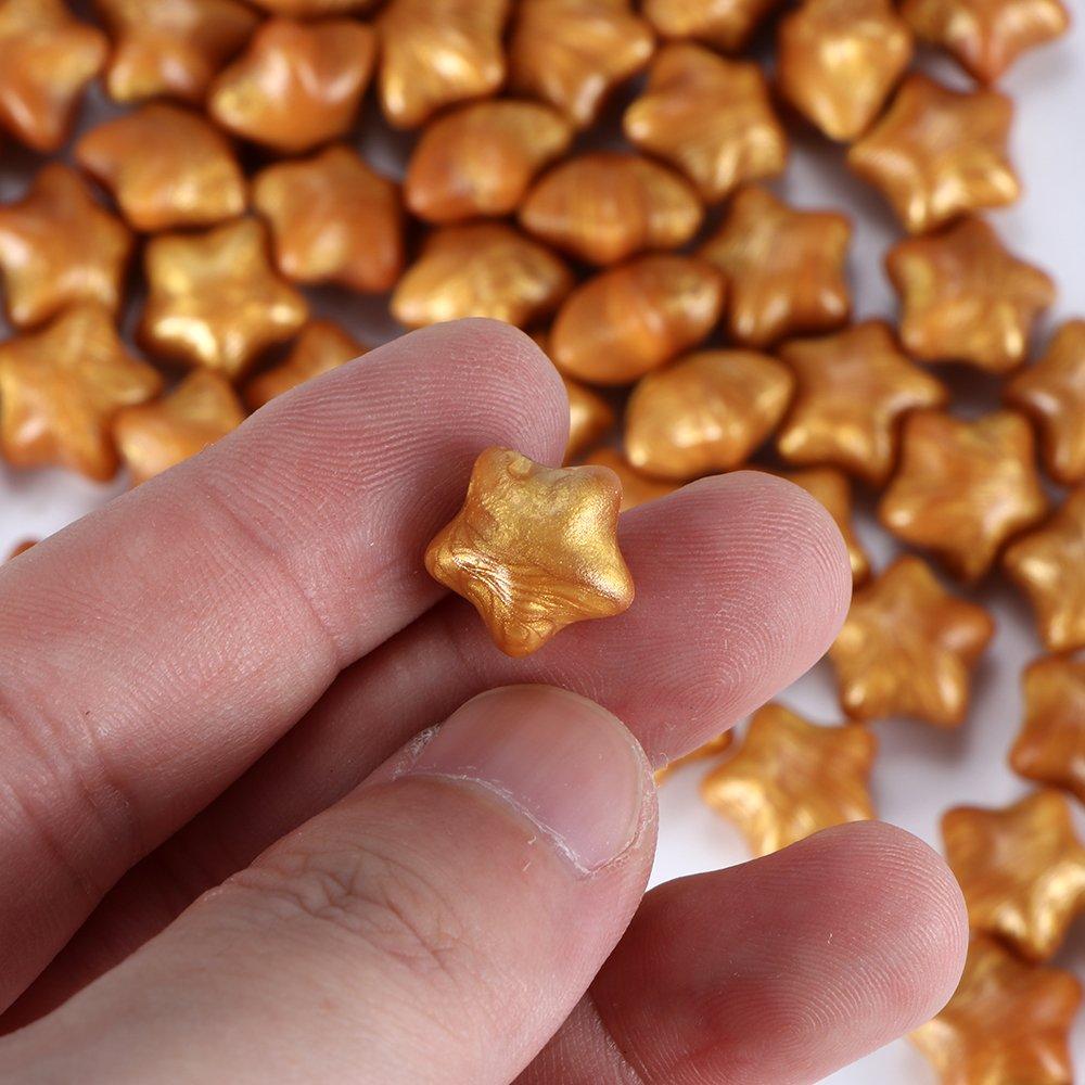 Houkiper 100 St/ücke Sternform Dichtwachs Perlen f/ür Wachs Stempel Dokumente Abdichtung Multi-color