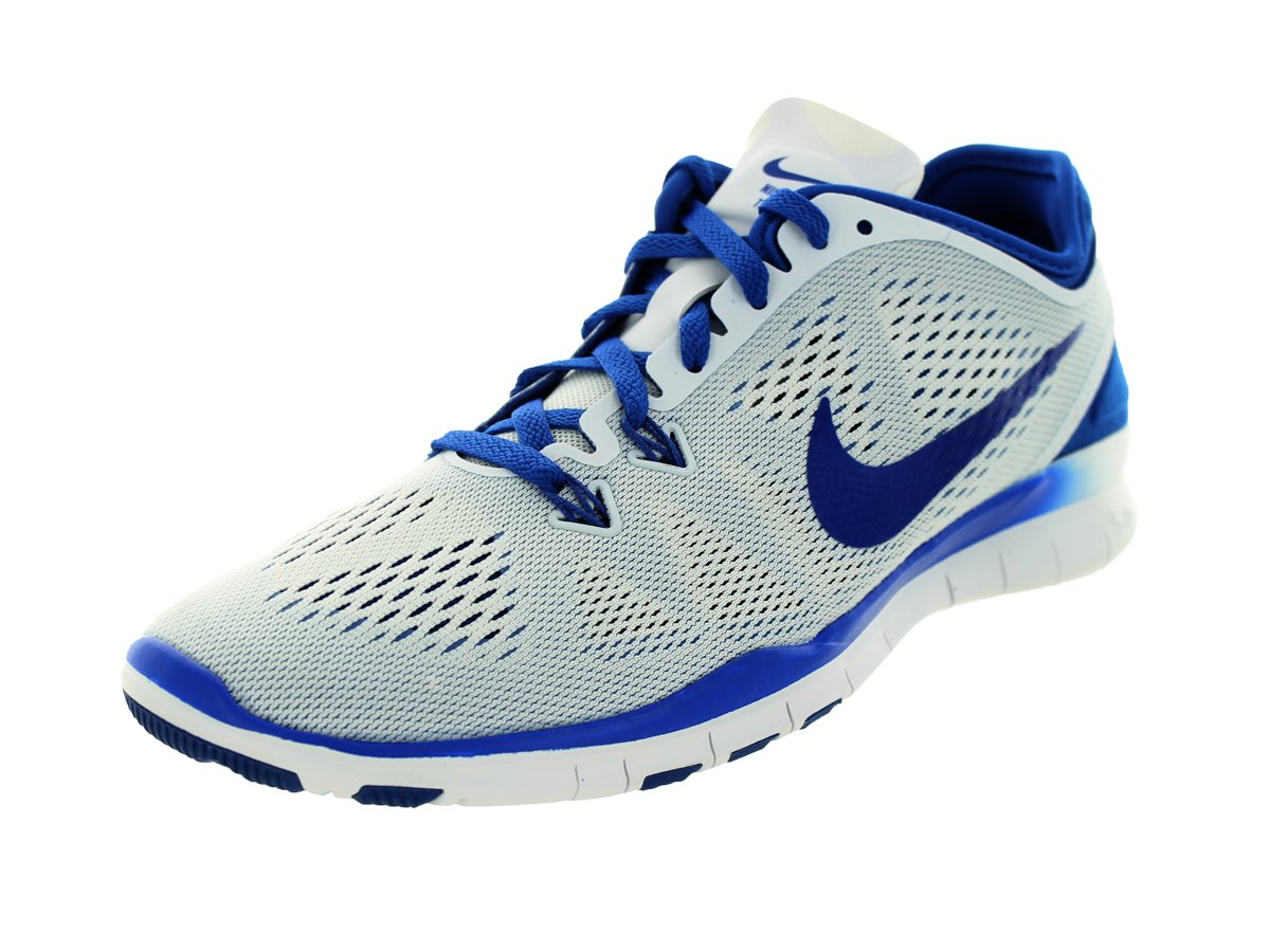 NIKE Women's Free 5.0 Tr Fit 5 White/Game Royal Training Shoes 9 Women US