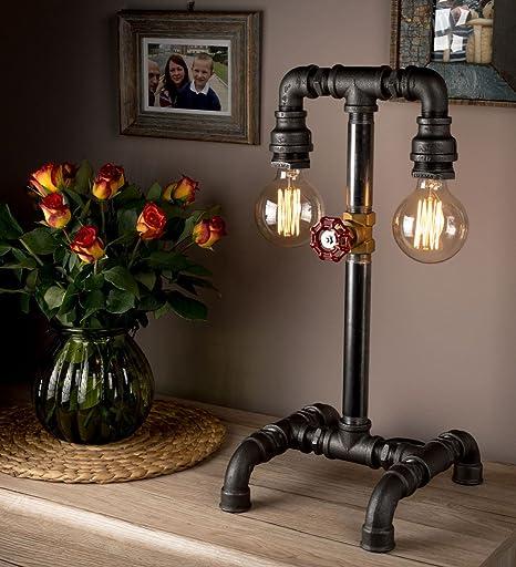 Lámpara Steampunk con Caño de Diseño Retro Ideas Creativas ...