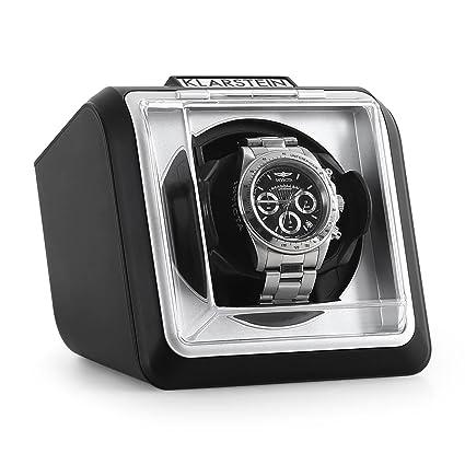 Klarstein 8PT1S • Estuche bobinadora para Relojes • Caja para Relojes • Capacidad: 1 Reloj automático • Giro en Dos direcciones • Intérvalos de Giro ...