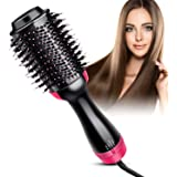 Hair Dryer Brush, Lisa Pro Hot Air Brush One Step Hair Dryer & Volumizer 3 in 1 Hair Dryer Brush Styler for Rotating Straightening, Curling, Salon Negative Ion Ceramic Blow Dryer Brush