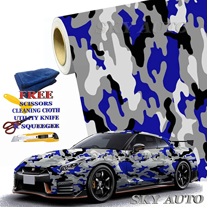 1ft x 5ft, Black Sky Auto INC Premium Car Satin Matte Chrome Plating Vinyl Film Wrap Sticker Sheet Air Release