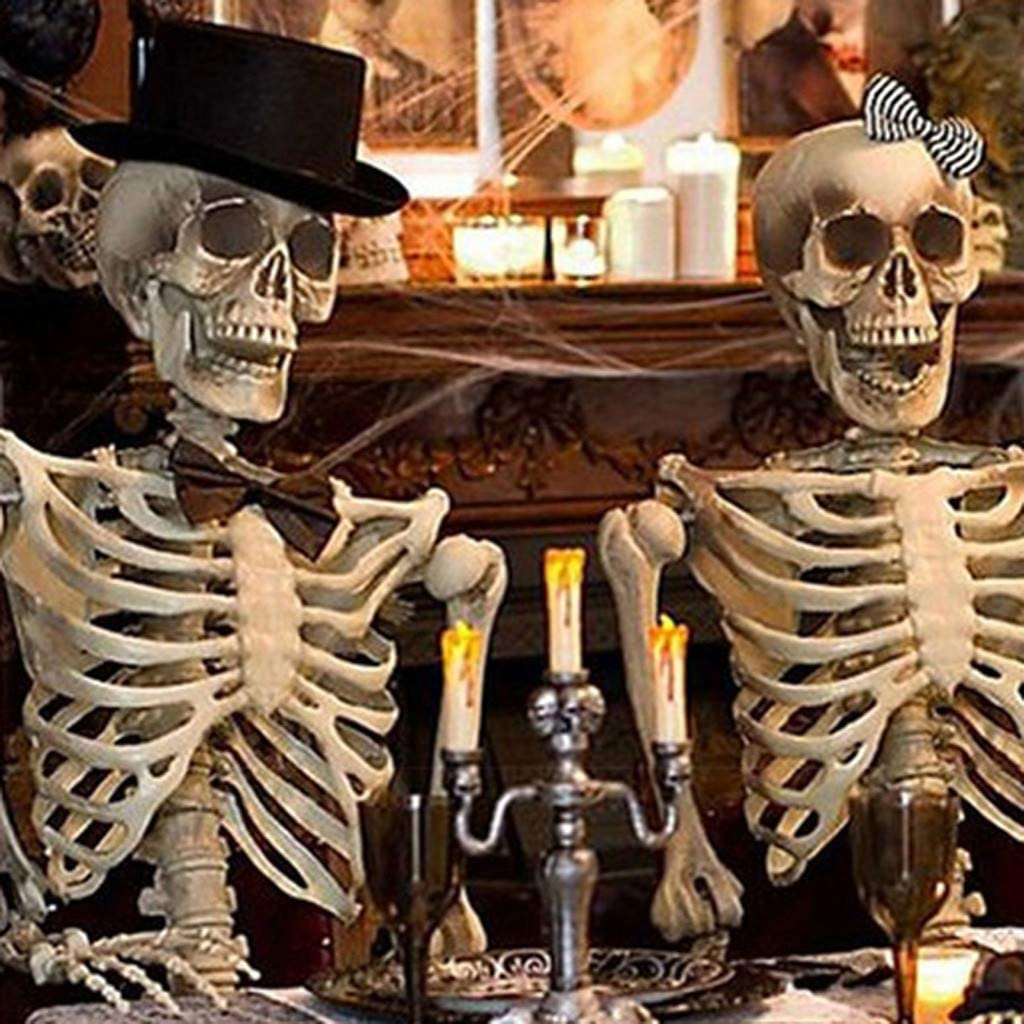 Highpot Life-Size Jointed Skeleton Hanging Halloween Prop Decoration Multiple Custom Pose Positions