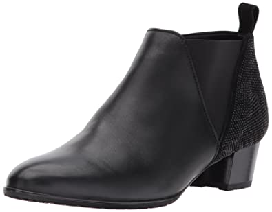 Women's Patty Ankle Boot Black Leather/Suede 9.5 M US