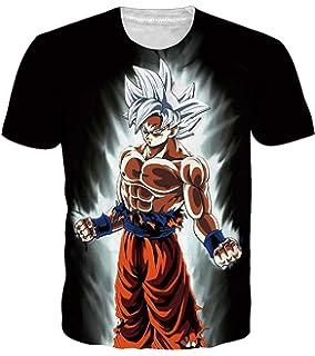 fc208750afb0 OPCOLV Men's Dragon Ball z Shirt Goku Cool Graphic 3D Printed Short Sleeve T -Shirts