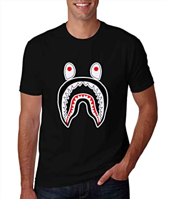 Bape Shark Charcoal Tshirt For Man L