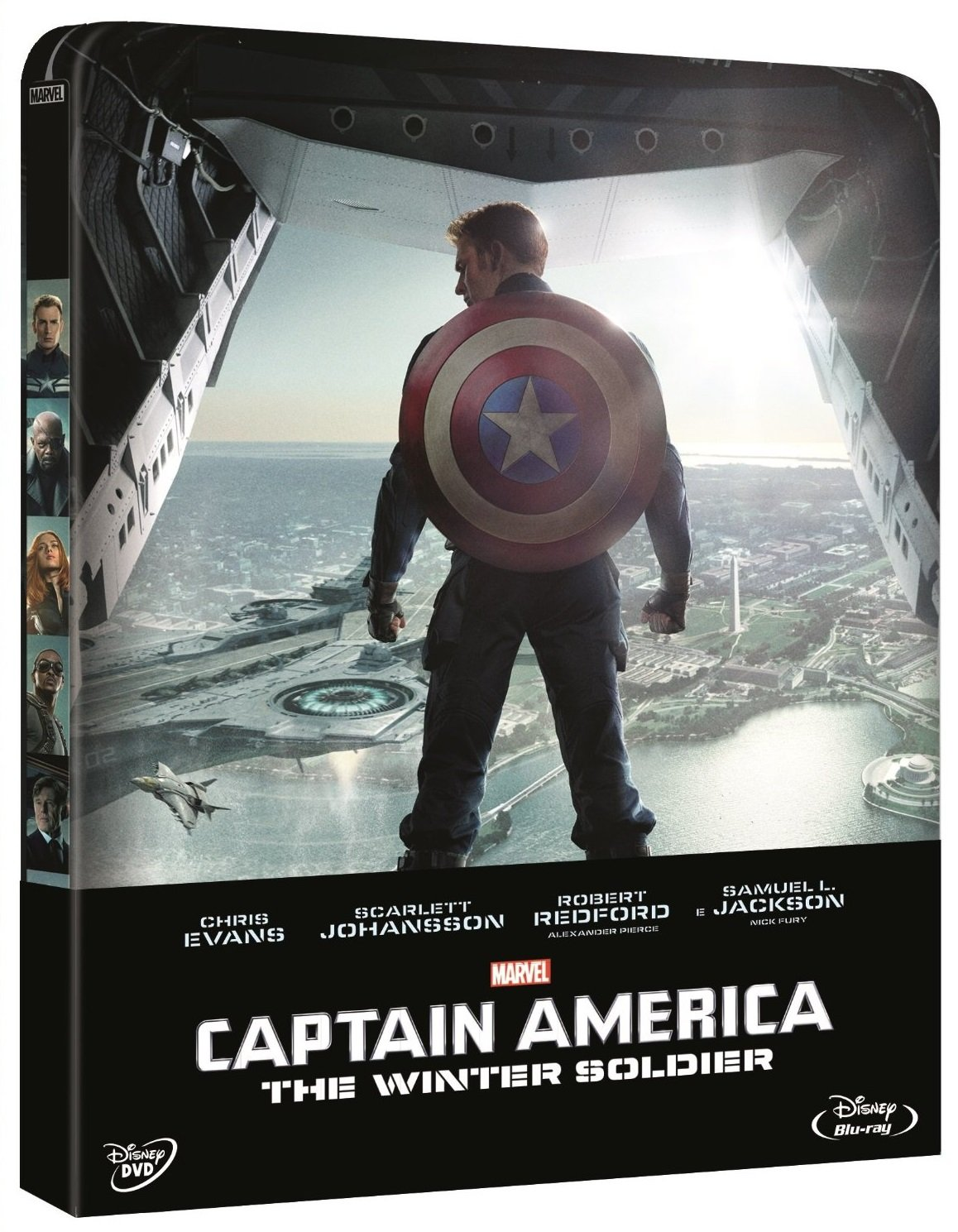 CAPTAIN AMERICA - The Winter Soldier Steelbook Blu-ray+Dvd ...
