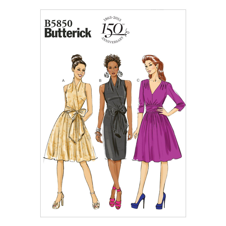 Butterick B5850 - Patrones de costura (vestidos para mujer, 4 ...