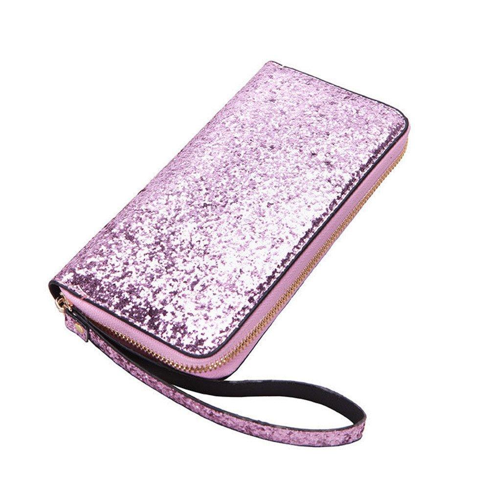 ef6ae4992b27 Women Wallet Pu Leather Wallet Women Long Glitter Sequin Wallets New ...