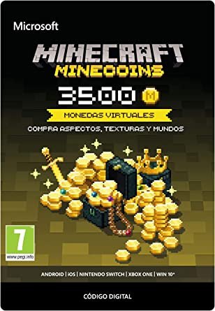 Minecraft - Minecoins Pack: 3500 Monedas, Xbox One, Online Game Code: Amazon.es: Videojuegos