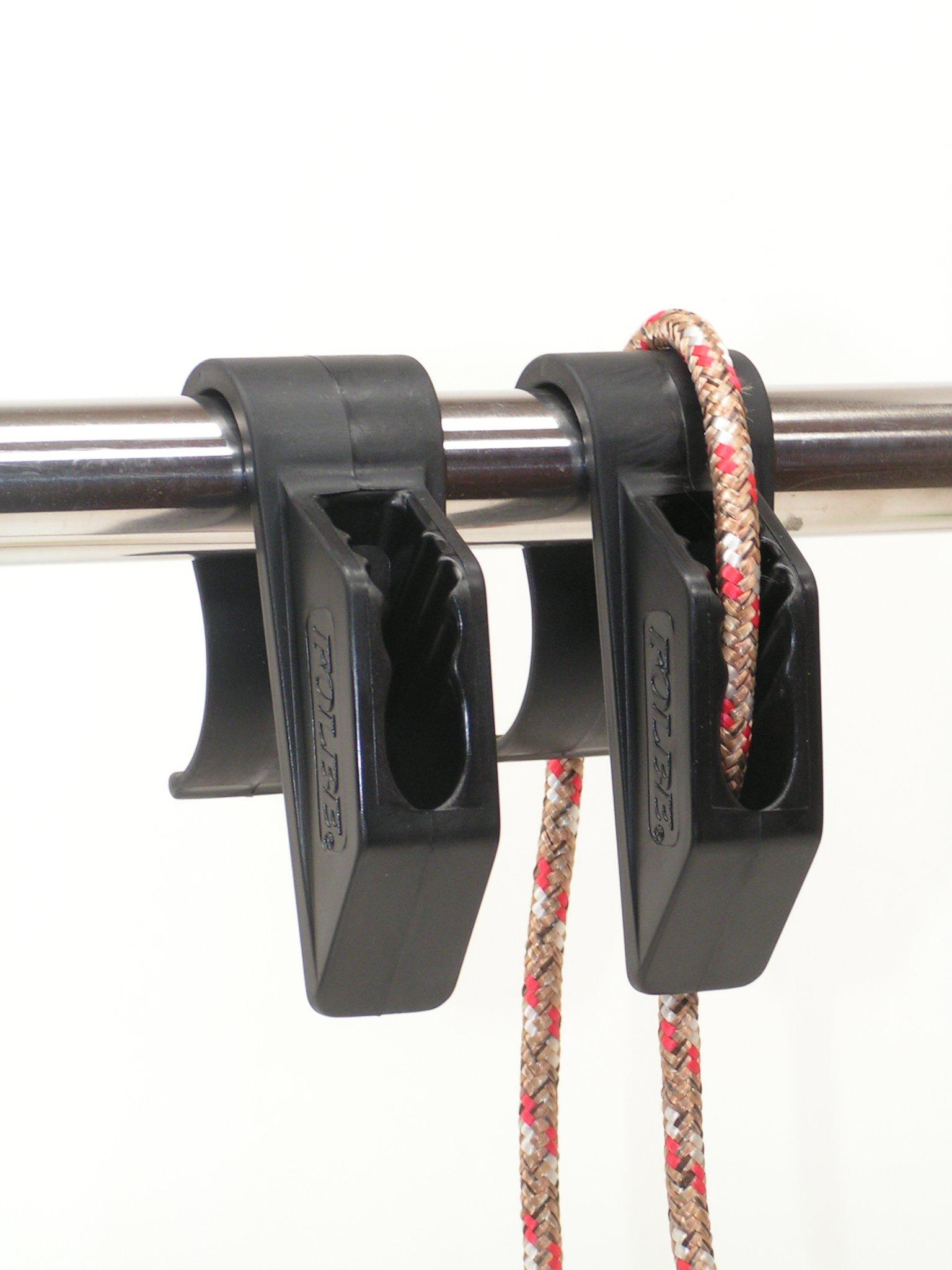 Folbe Boat Fender Hanger Adjuster Clip (Sold in Pairs) - Fits 1'' (25 mm) Rails - Black