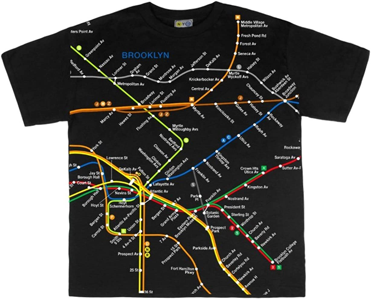 NYC Subway Line Toddlers Brooklyn Map Tees