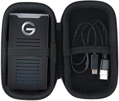Khanka Duro Viaje Estuche Bolso Funda para G-Technology G-Drive ...