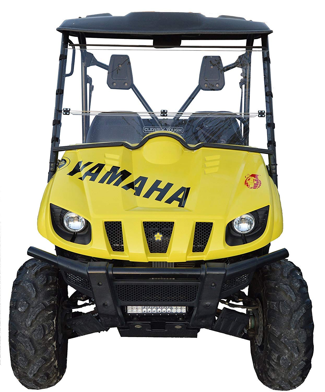 Yamaha Side By Side >> Clearly Tough Yamaha Rhino Windshield Full Folding Scratch Resistant The Ultimate In Side By Side Versatility Premium Polycarbonate W Hard