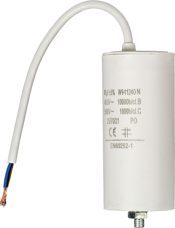 450 V Eurosell 12 uf Premium Kondensator Betriebskondensator Motorkondensator Anlaufkondensator Arbeitskondensator Steckeranschluss mit fest verbautem Kabel Anschluss