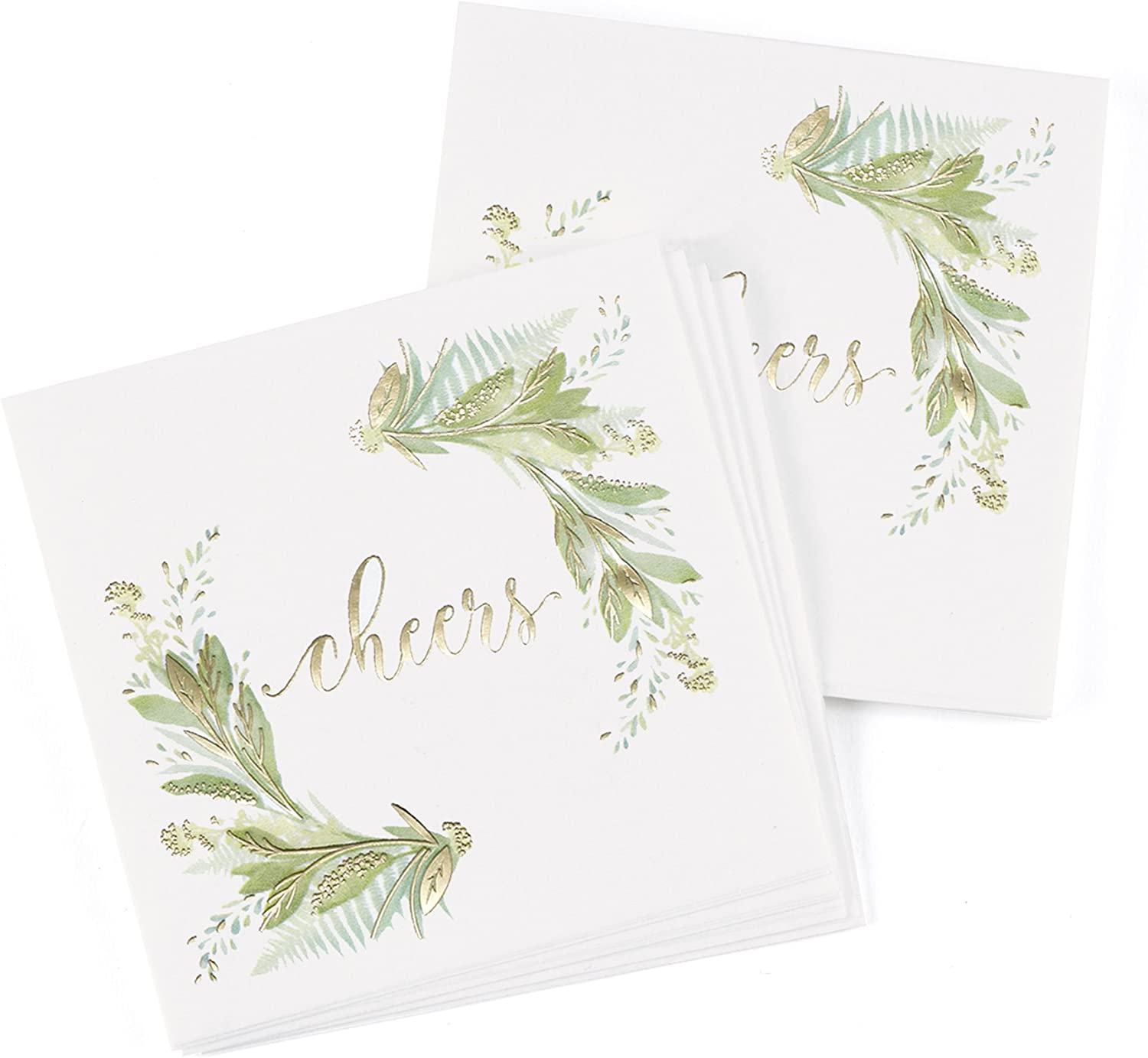 Hortense B. Hewitt Party Paper Napkins, 4.75-Inch (Folded), Greenery