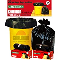 Shalimar Premium OXO - Biodegradable Garbage Bags (Medium) Size 48 cm x 56 cm (30 Bags) (Black Colour)