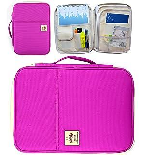 Blue Cellphone Handbag Message Bag for Travel Holiday Office ASUMAN A4 Document Case Multi-Functional Passport Holder Wallet File Organiser Portable Notebooks iPad Pens
