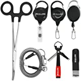 Fly Fishing Tools Kit and Accessories Combo Kits, Fishing Quick Nail Knot Tying Tool, Hook Remover Forceps and Pliers, Stainl