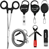 Fly Fishing Tools Kit and Accessories 7 in 1 Combo, Fishing Quick Nail Knot Tying Tool, Hook Remover Forceps and Pliers…