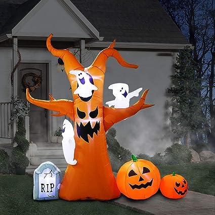 Decoración De árbol Hinchable Para Halloween Hinchable árbol Fantasma Decoración Para El Hogar Patio Jardín Fiesta Interior Y Exterior Toys Games