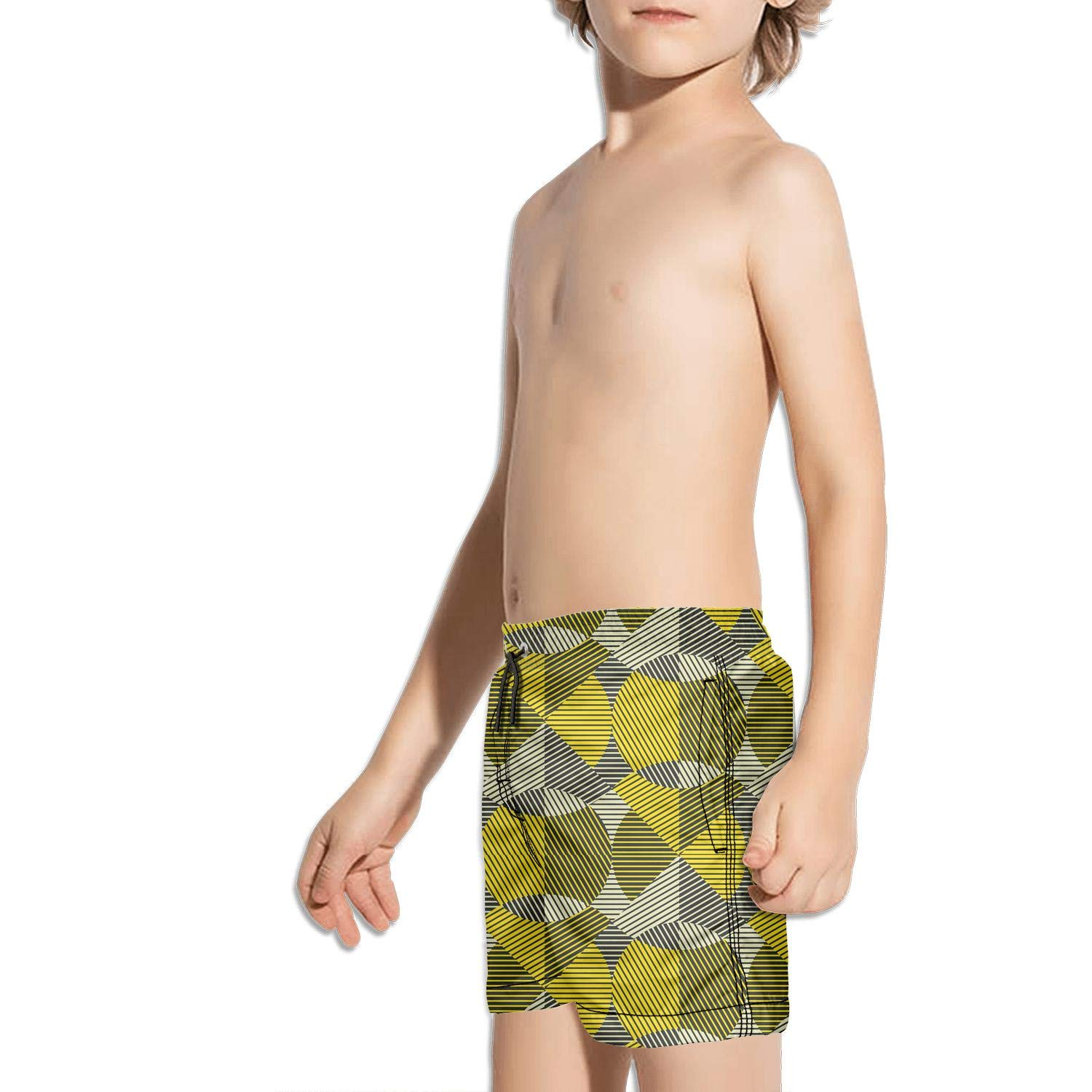 BingGuiC Boys Quick Dry Shorts Geometric Round Shapes Colorful Fashion Swim Trunks