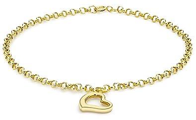 Carissima Gold 9ct Yellow Gold Multicolour Drop Charm Bracelet of 19cm/7.5 EDm7MpyB