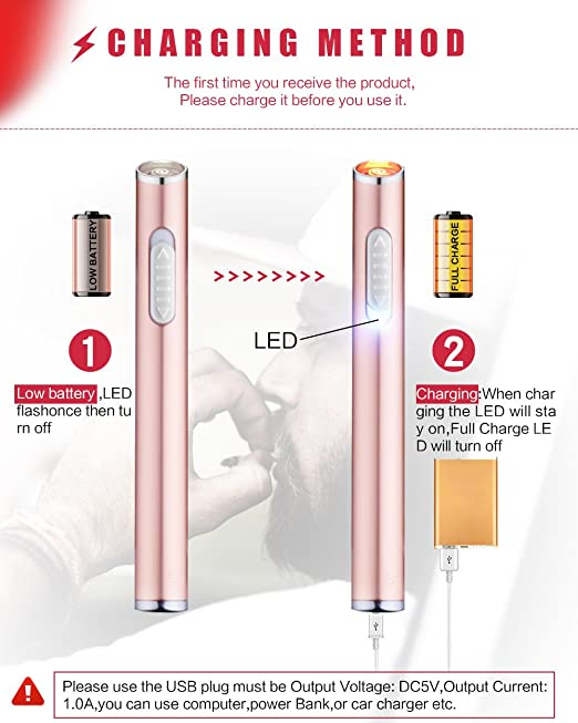 amazon com usb mini lighters electronic rechargeable windproof rh amazon com