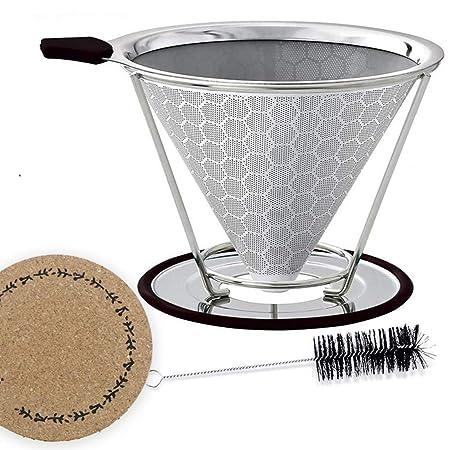 YUKIK goteador de café sin papel con soporte para taza, filtro de ...