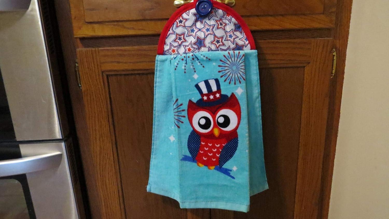 Amazon Com Kitchen Towels Owl Dish Towels Handmade Holiday Towels Handmade
