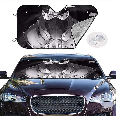 YQLDFB Car Windshield Sunshade Kakashi Naruto Sun Heat Shield Shade UV Ray Visor Protector Keep Vehicle Cool