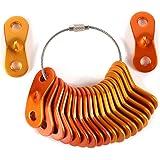KiloNext アルミニウム 自在 コードスライダー テント ロープ張り (20個セット 収納用ワイヤーホルダー付)
