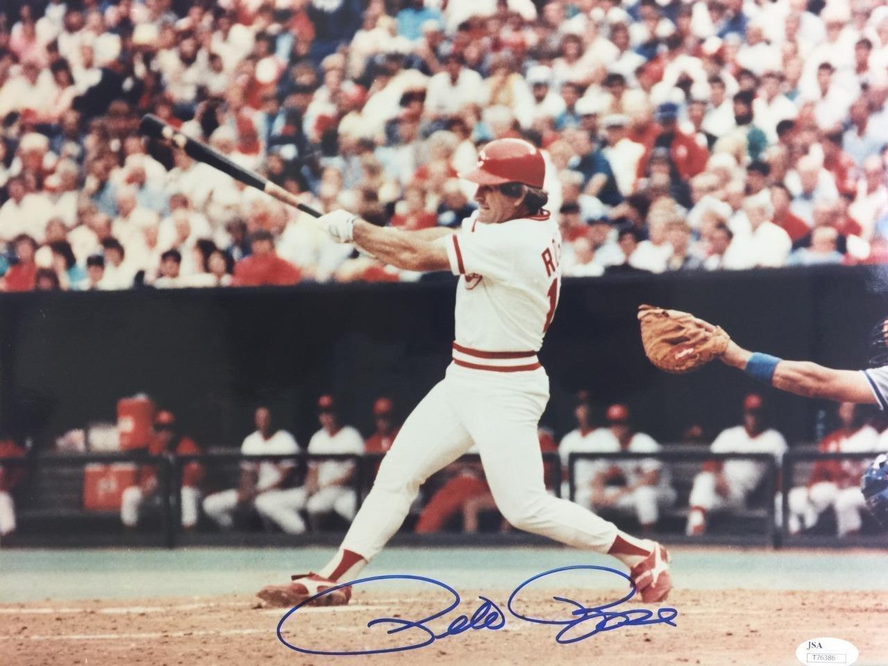 Pete Rose Autographed Photograph - 11X14 coa Cinncinnati - JSA Certified - Autographed MLB Photos Sports Memorabilia
