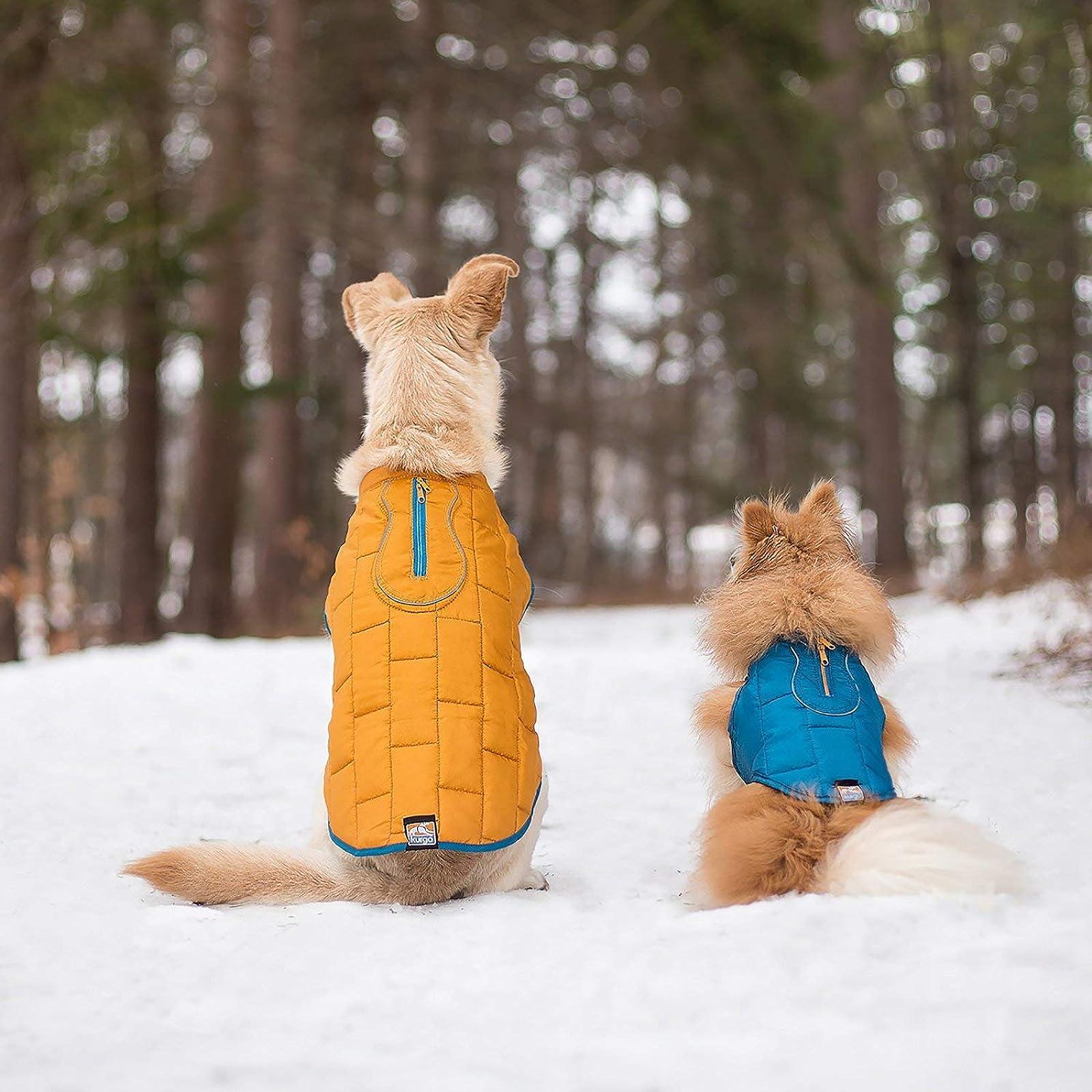 Kurgo Loft Jacket Reversible Dog Coat Dog 01848 Coastal Blue/Orange - 2