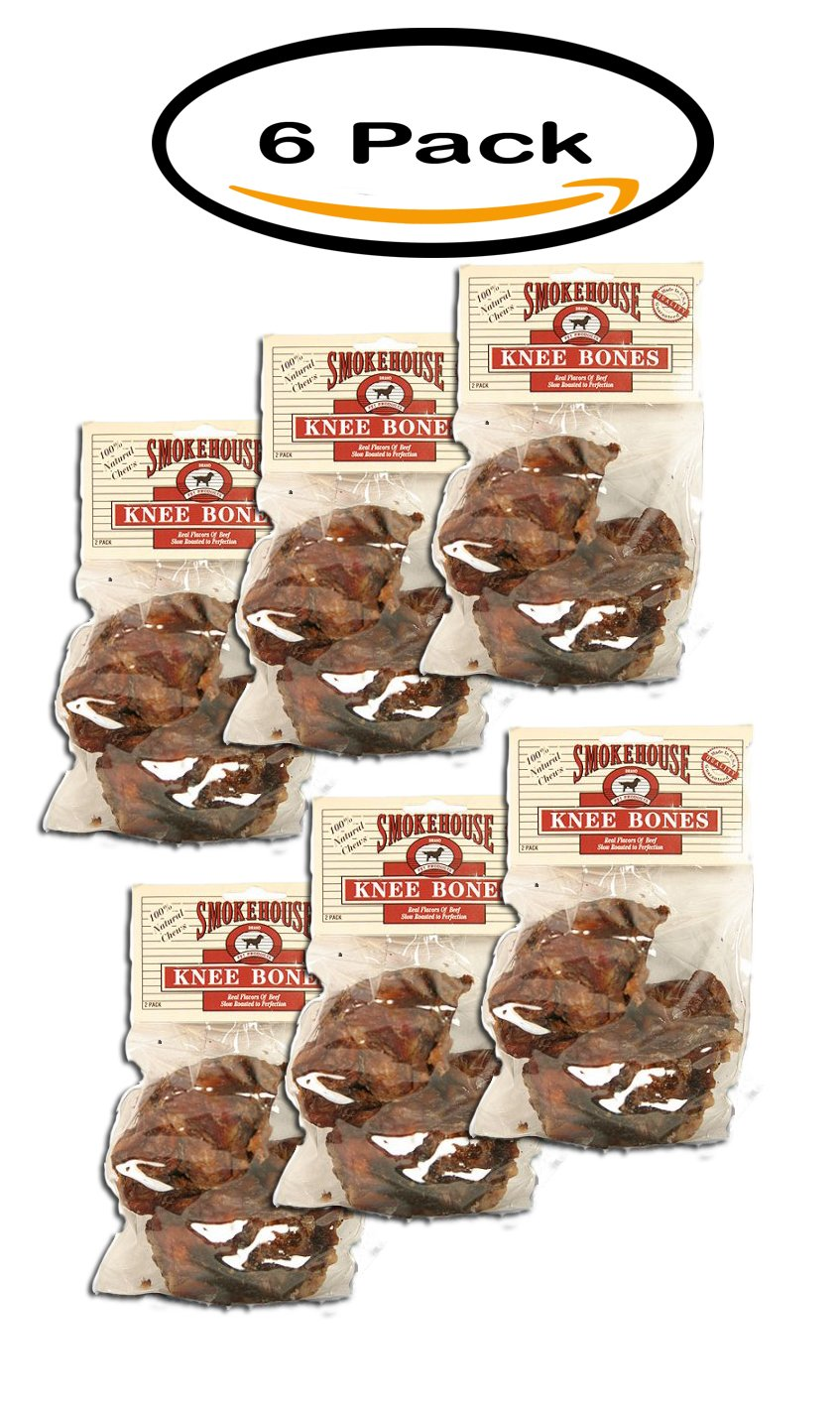 PACK OF 6 - Smokehouse Knee Bones, 2 Pack