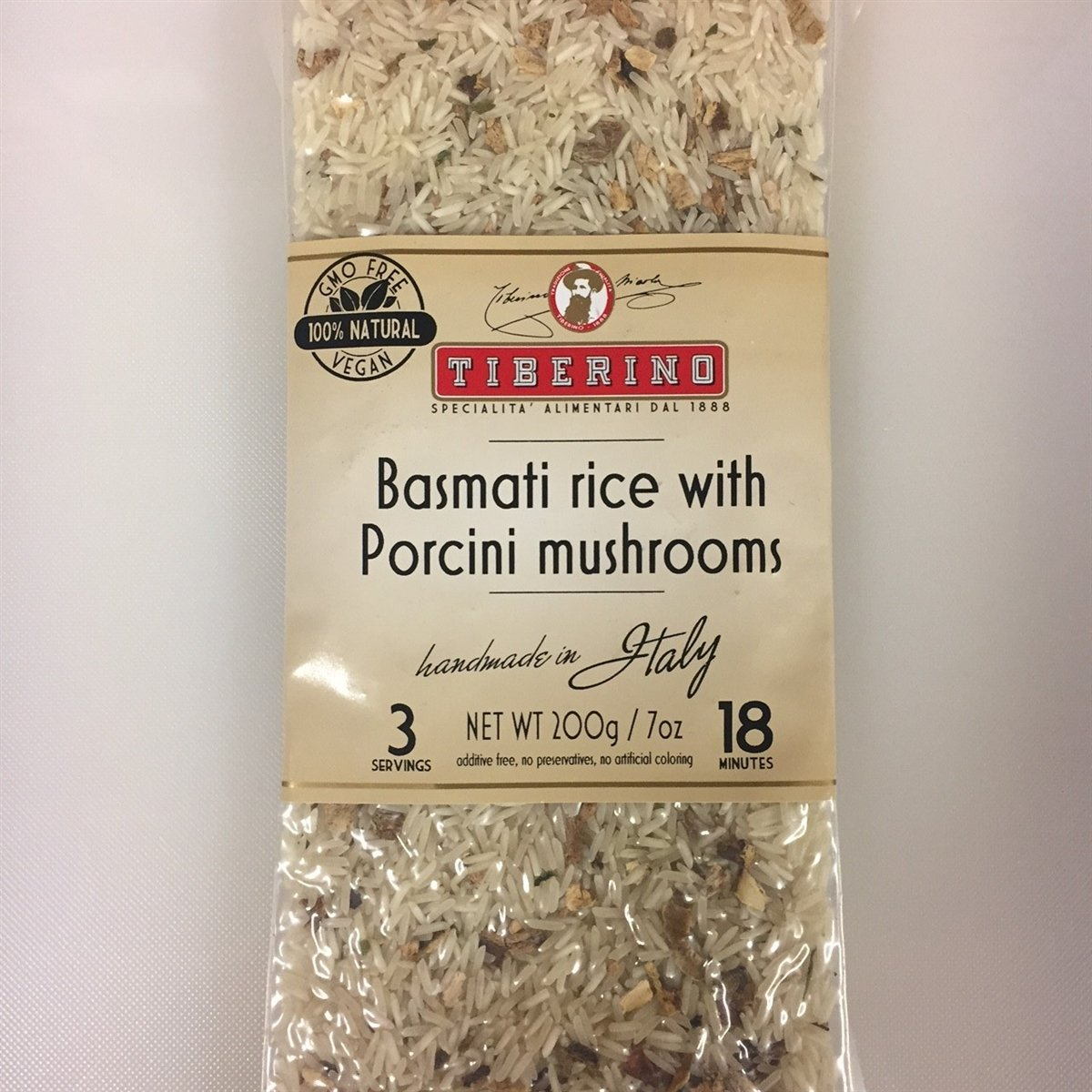 Tiberino's Real Italian Meals - Basmati Rice with Porcini Mushroom
