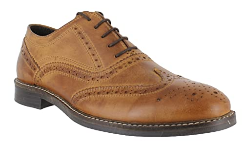 83cd8afe92f0 Red Tape Bradshaw Men's Brown Leather Brogue Shoes: Amazon.co.uk ...