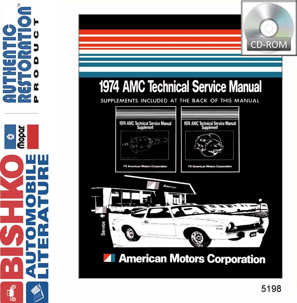 1974 Amc Gremlin Hornet Matador Shop Service Repair Manual Cd Engine Wiring Diagram Electrical Tools Equipment Amazon Canada