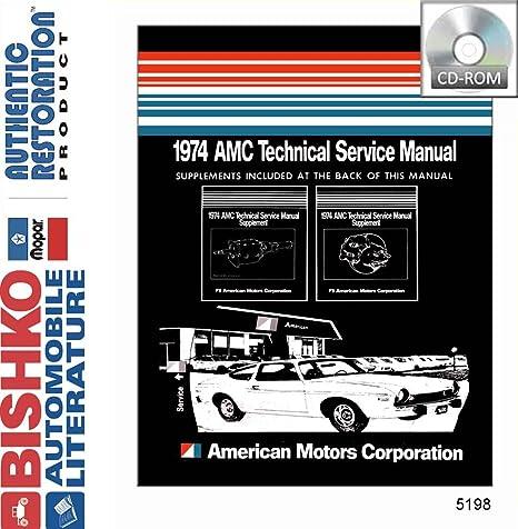 1974 AMC Gremlim Hornet Matador Service Shop Repair Manual CD Engine Drivetrain
