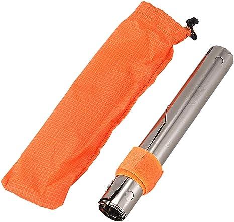 Panel a Prueba de Viento 5cm Pantalla de Parabrisas de Estufa de Camping de Titanio Ultraligero para Acampar Senderismo