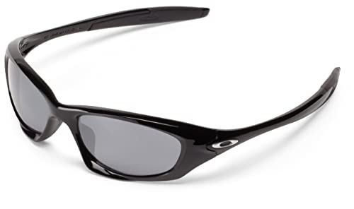 97c94ad9a6 Image Unavailable. Image not available for. Colour  Oakley Men s Twenty  OO9157-01 Black Wrap Sunglasses