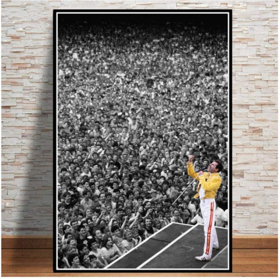70cm Sin Marco MTHONGYAO P/óster Freddie Mercury 1986 Queen Legendery Singer Star Poster Cuadros de Pared para Sala de Estar Pintura sobre Lienzo Decoraci/ón del hogar 50