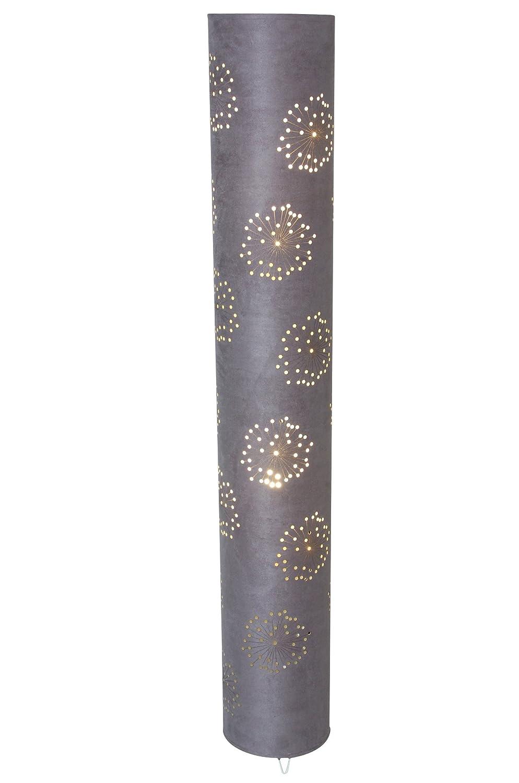Naeve Leuchten Stoffstehleuchte Höhe  120 cm, ø 18 cm, grau 2016416